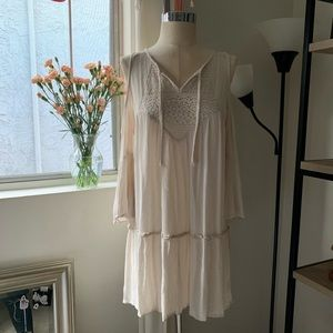 Bohemian cold shoulder dress